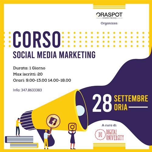 Corso Social Media Marketing a Oria