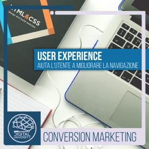 User Experience: Aiuta l'utente a migliorare la navigazione